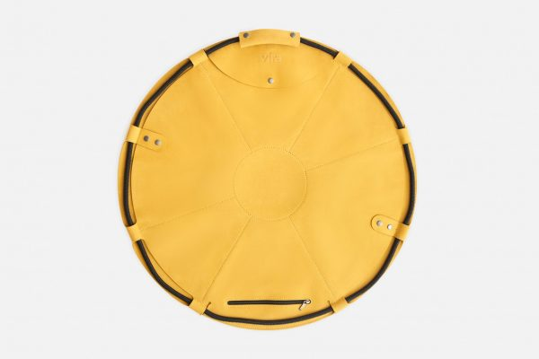 Bolso vira zero mustard abierto